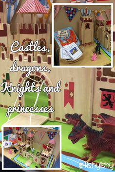 Castle small world play. Knights And Castles Topic, World Book Day Ideas, Pretend Play, Role Play, Rei Arthur, Fairy Tales Unit, Fantasy Play, St Georges Day, Tuff Spot