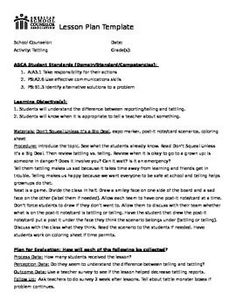 Peer Pressure Lesson Peer Pressure Counselling And School - School counselor lesson plan template