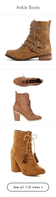 """""""Ankle Boots"""" by natalialovesnutella ❤ liked on Polyvore featuring shoes, boots, white, white boots, buckle shoes, fashion military boots, studded shoes, tan military boots, tan shoes and laced up boots"""