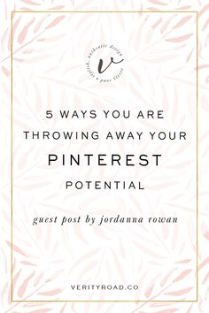 Guest blog post from designer and consultant Jordanna Rowan of The House of Muses about how to improve your pinterest traffic and your blog traffic as a blogger, biz owner, female entrepreneur, creative, business owner. Social media marketing help, free advice, and a course on improving your pinterest to grow your online presence.