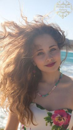 BOHO CHIC Beaded Colourful Necklace and Bracelet, #VintageRosegallery , #etsy , model : #VickySouti ,  Bohemian Necklace, Boho Chic Pastel colour by VintageRoseGallery