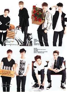 EXO ♡ Harper's Bazaar China, February issue, 2014
