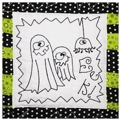 Eek! Spiders! Block 4 - 2 Sizes! | Halloween | Machine Embroidery Designs | SWAKembroidery.com Homeberries Designs