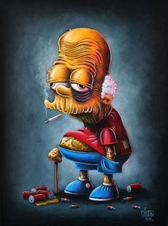 Bootleg Bart – An awesome mashup series between Simpsons and pop culture Art Disney, Disney Kunst, Cartoon Kunst, Cartoon Art, Disney Stars, Dope Kunst, Simpsons Art, Stoner Art, Arte Horror