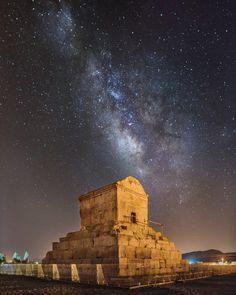 Das Grab von Kyros, dem Herrscher der damaligen Weltmacht Persien, ist der...