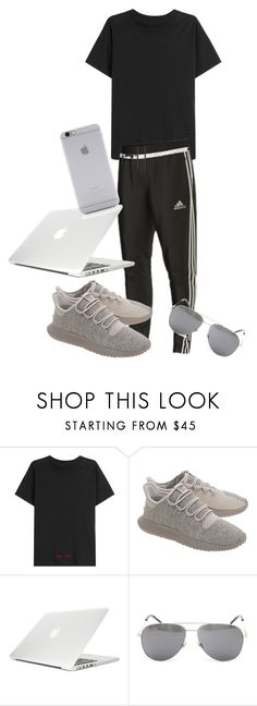 """""""Beginning cool at school 😎👅💦"""" by flawlesskyliezzz ❤ liked on Polyvore featuring Off-White, adidas, adidas Originals, Moshi, Yves Saint Laurent, Native Union, men's fashion and menswear"""