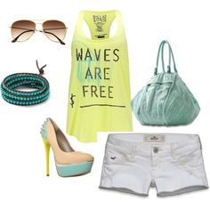 Summer, created by k-pavek on Polyvore