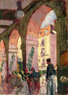 The Café Suisse (Café des Arcades, Dieppe, France) - Walter Richard Sickert 1914      English  1860-1942
