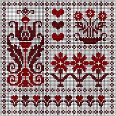 Stofnest cross-stitch - free