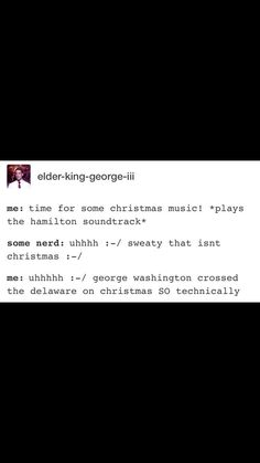 """I did this all Christmas  I think I can put """"making various musicals relate to Christmas"""" on my resume now"""