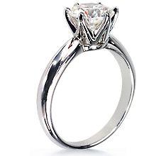 Custom Crowne Tiffany-Style Gold Engagement Ring: Tiffany,crown,6 prong,engagement ring,wedding ring,engagement rings,diamond engagement rings