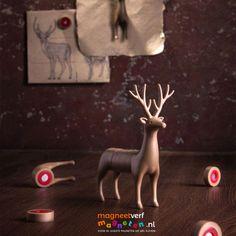 Magnetisch hert bestaande uit meerdere sterke magneetjes! Christmas Ornaments, Holiday Decor, Home Decor, Xmas Ornaments, Homemade Home Decor, Christmas Jewelry, Christmas Ornament, Interior Design, Christmas Baubles