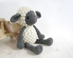 PATTERN: Sheep - Amigurumi lamb - Stuffed animal - Crochet pattern - Tutorial with photos (EN-052) by SIDRUNsPatterns on Etsy https://www.etsy.com/listing/194593342/pattern-sheep-amigurumi-lamb-stuffed