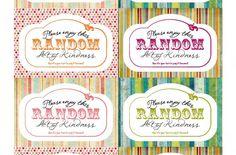 Random Acts of Kindness printable tags