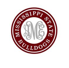Mississippi State Monogram instant download file for cutting machines - SVG DXF EPS ps studio3 studio (monogram font sold separately)