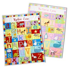 Baby Alphabet Quilts http://www.cutekidcreations.com/products/baby-alphabet-quilt-pastel