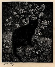 Lionel Lindsay. The Witch, 1924. (wood engraving)