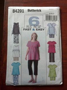 Butterick 4201 - ladies maternity wardrobe