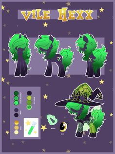 Reference Sheet: Vile Hexx by ArcadianPhoenix on DeviantArt