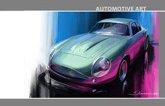 Automotive Art by Laura Jonason, via Behance