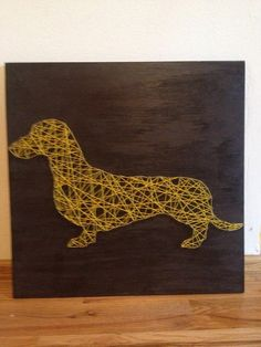 Dachshund string art