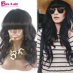 Cheap glueless full lace human hair wigs wavy virgin human hair lace front wig for black women hair extension wig 6A baby hair