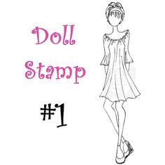 Prima Doll Stamp - Julie Nutting - Large Rubber Stamp - Cling Mount - READY TO SHIP - nr1