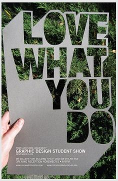 Love what you do. Right on, graphic design students. What a killer promo.