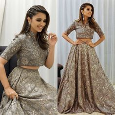 For more, follow @keynas03✨✨ Western Gown, Pakistani Dresses, Indian Dresses, Hairstyles For Lehenga, Punjabi Hairstyles, Hairstyles Haircuts, Wedding Hairstyles, Traditional Outfits, Indian Wear
