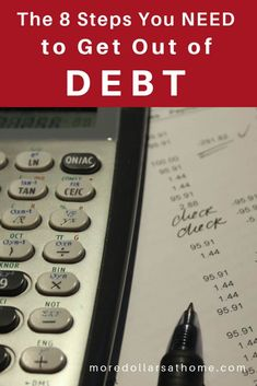 The 8 steps you need to get out of Debt. Stop paying interest! Ways To Save Money, Make More Money, Money Saving Tips, Extra Money, Pay Debt, Debt Payoff, Savings Planner, Budget Planner, Get Out Of Debt