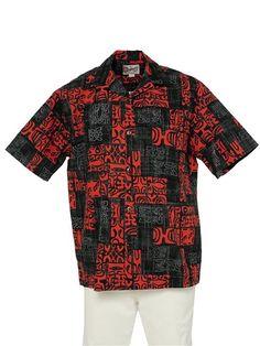 9c2448c9 Hilo Hattie Petro Black Cotton Men's Hawaiian Shirt Mens Hawaiian Shirts, Aloha  Shirt, Black