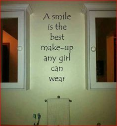 This is such a great affirmation for a young girl to see every day!  #uppercaseliving #makeup #smile