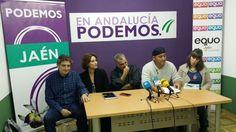 Podemos Jaén presenta su candidatura al Congreso con el director de cine Benito Zambrano