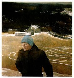 """""""Battleground' by Andrew Wyeth. This is my favorite Andrew Wyeth painting. Lucky that the Nelson-Atkins owns it so I can visit, occasionally :)"""