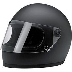 BILTWELL Gringo S Helmet Plastic-Polycarbonate Solid Gloss Black #caferacerhelmet
