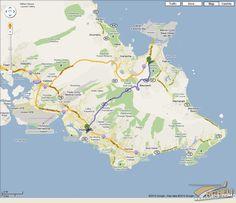 Road Map Oahu Honolulu Hawaii Aaccessmaps