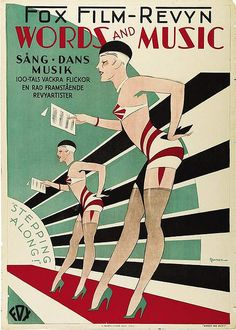 """Stepping Along!"" ~ 1929 Art Deco sheet music cover."