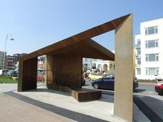 Duggan Morris' Bexhill-on-Sea windshelters lifted in | News | Architects Journal