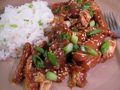 slow cooker Sesame ginger chicken.