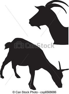 royalty free silhouette clip art goat - Google Search