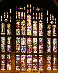 Stained glass windows at the Cadet Chapel, West Point Military Reservation, West Point, NY