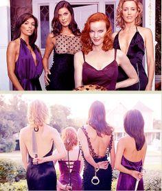Desperate Housewives style for a fun one. Desperate Housewives Cast, Movies Showing, Movies And Tv Shows, Series Movies, Tv Series, Marcia Cross, Bree Van De Kamp, Eva Longoria, Best Series