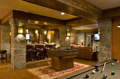 media room and bar! so rustic.  click on the TOUR THIS HOME button and see the entire house.  pretty!!!