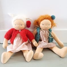 Darling, handmade Waldorf dolls by Stellabyrosa