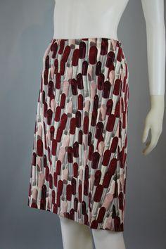 Prada lipstick print skirt, S/S 2000