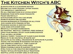 Kitchen Witch's ABC