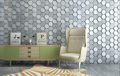 mopa3 - 5 Foam Panels, 3d Wall Panels, 3d Tiles, Wall Tiles, 3d Wandplatten, Tile Covers, Leather Wall, Pu Leather, Home Theatre Sound