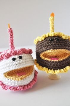 Happy Birthday Cake CROCHET PDF PATTERN by ThePudgyRabbit on Etsy, $5.00
