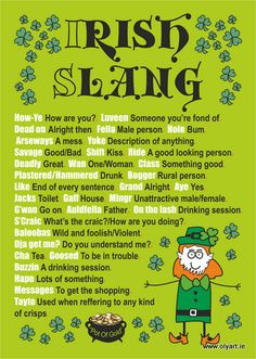 Irish Slang....haha this is cute