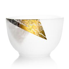 TEA CUP - Glass & gold leaf - large size